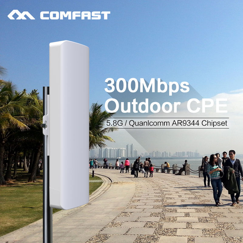 5.8G 5KM Wireless Extender Outdoor Router CPE WIFI Router 300M 2*14bi Antenna Access Point open wrt WIFI Repeater amplier Bridge outdoor cpe 5 8g wifi router 200mw 1 3km 300mbps wireless access point cpe wifi router with 48v poe adapter wifi bridge cf e312a