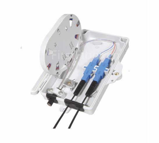 Firstfiber odn ftth 2 núcleos caixa de terminação de fibra 2 portas 2 canais tomada de fibra divisor caixa interior ao ar livre FF-FTB-2-A