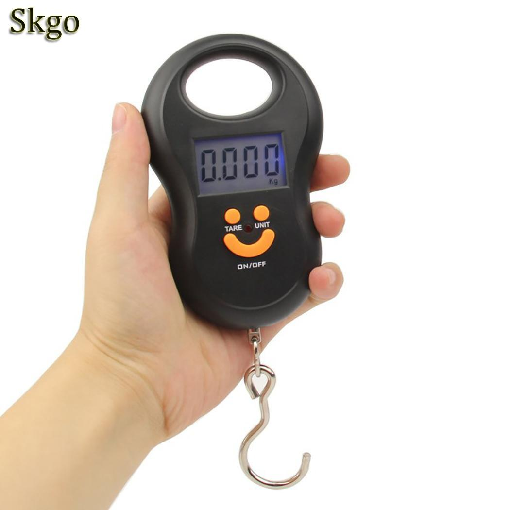Mini Hanging Digital Scale  Portable Pocket Scales Travel Black Manual Luggage Scale Electronic Hook Scale Kitchen Weight Tool