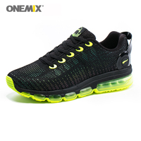 Onemix Reflective Men Running Shoes Sneaker Breathable Mesh Vamp Black Sneaker Air Cushion Athletic Trainer Man Colorful Sneaker