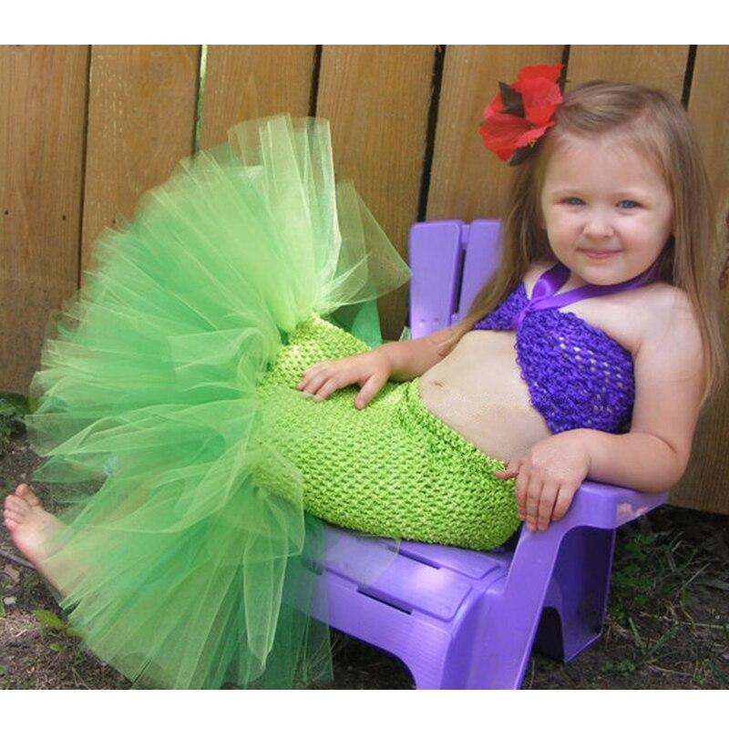 2254 Princesa Tutú Ariel Vestido La Sirenita Disfraces Para Niñas Vestido Ropa Para Niños Halloween Cosplay Sirena Cola Traje K041 In Set De Ropa