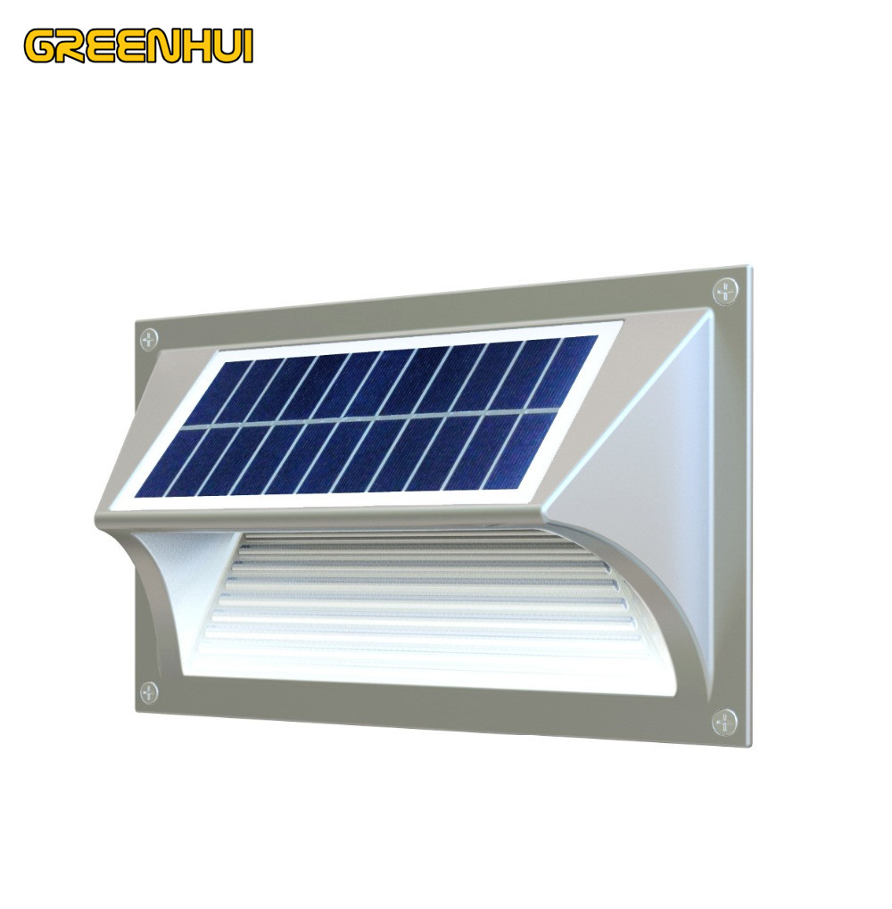 Solar Power 5 LEDs SMD5730 Outdoor Waterproof Garden Pathway Stairs Lamp Light Energy Saving LED Solar Wall Lamp Warm White