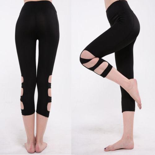 Women Stretch Leggings Ballet Trousers Slim High Waist Bandage Pants Women Indoor Push Up Trousers  S M L XL