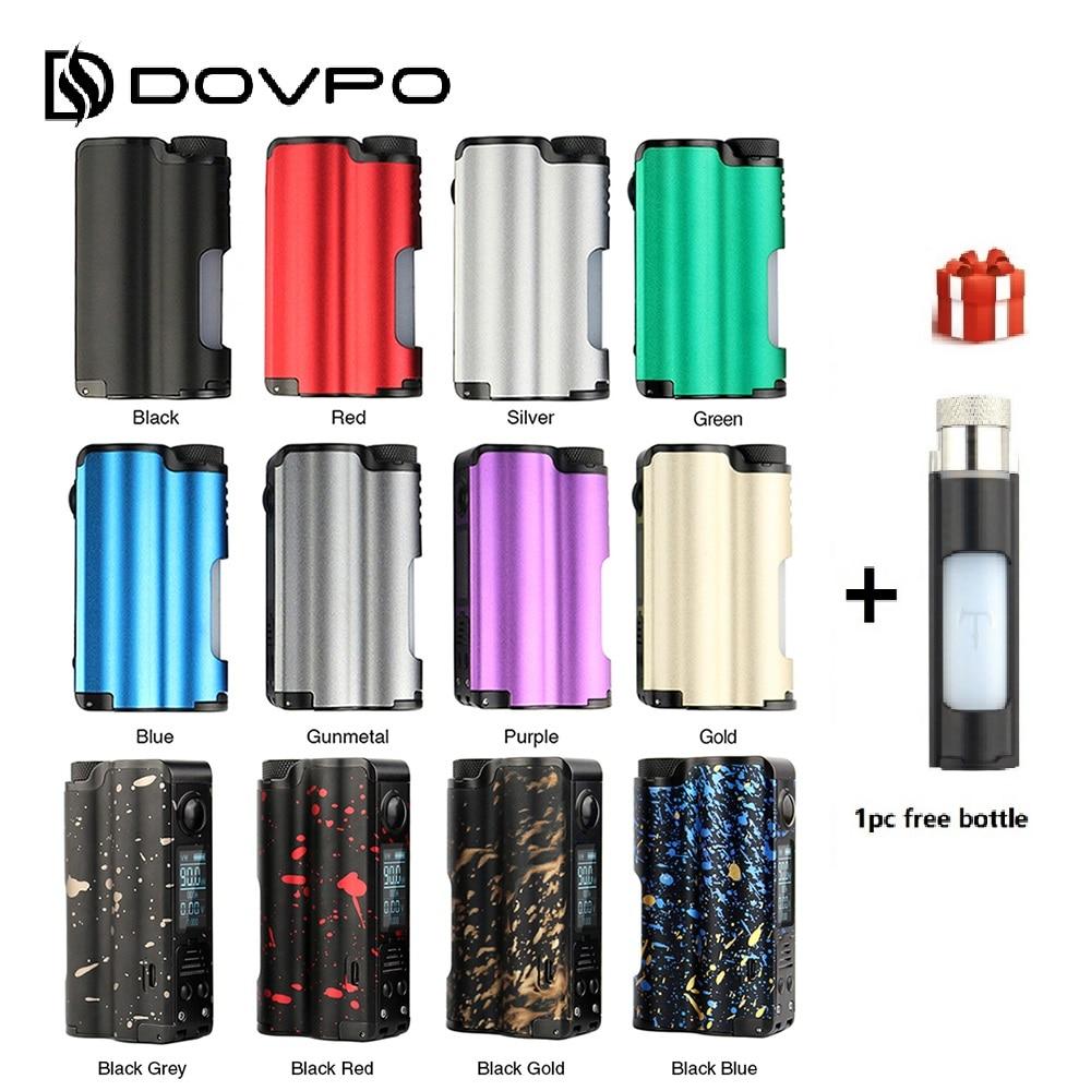 Ecig DOVPO Topside 90 W haut remplissage TC Squonk MOD avec 10 ml grande bouteille Squonk et 0.96 pouces OLED écran no 18650 batterie vs Luxe Mod