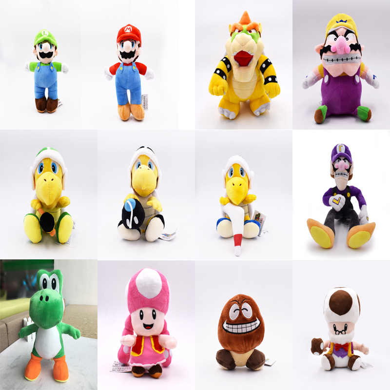 Super Mario Brothers Plush Yoshi Koopa Troopa With Hammer