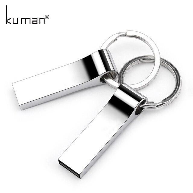 Kuman Metal USB Flash Drive pendrive 128GB 64GB 32GB 16GB 8GB 4GB Flash Memory Stick Pen Drive usb Stick for PC Free shipping