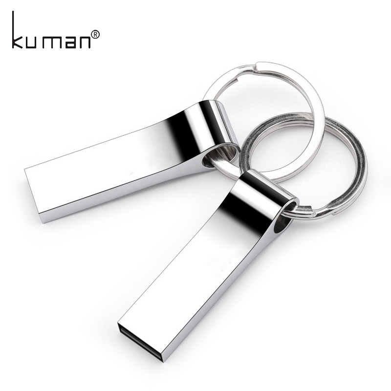 Kuman Metal USB Flash Drive pendrive 128GB 64GB 32GB 16GB 8GB 4GB Flash Memory Stick Pen Drive usb Stick for PC Free shipping