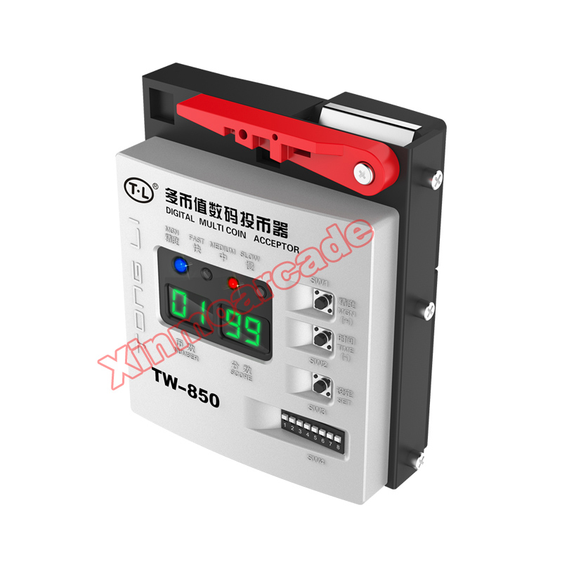 TW-850 Digital Top Entry Multi Coin Acceptor Token Selector Coin Mech for Arcade Game Cabinet Kiosk Vending Machines good quality coin operated tabletop gumball vending machine desktop capsule vending cabinet toy penny in the slot coin vendor