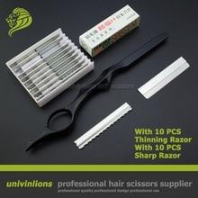 7″ sharp/thin blade gift hair razors hairdressing razor blade haircut thinning hair cutter barber razor scissors cut hair sissor