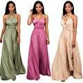 El más nuevo diseño 3 colores de verano mujeres sexy wrap multiway maxi dress vendaje halter damas de honor convertible dress robe longue femme