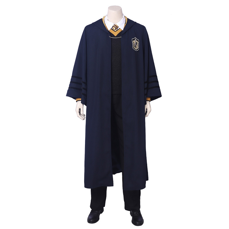 Youngster Newt Scamander Cosplay Costume School Uniform Cloak Full Set Party Show