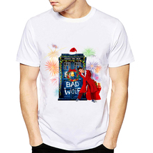 2018 Funny Santa Christmas Funny Doctor Design T-Shirt Summer Short Sleeve Tops New Arrival Casual Tee Shirts