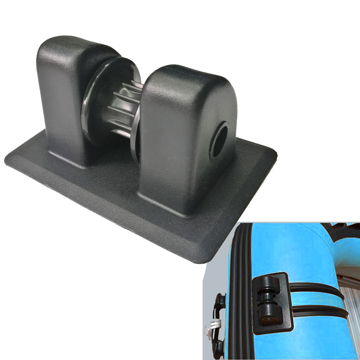 1PC Kayak Inflatable Boat Anchor Rope Buckle Holder Anchor PVC Tie Off Patch Wheel Anchor Row Roller For Rowing Boat Kayak