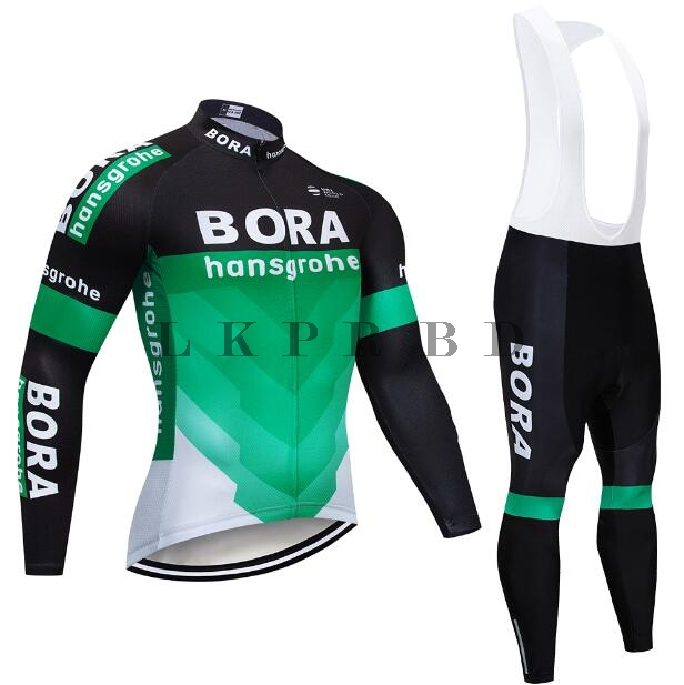 2018 Best-selling BORAMTB Men s Spring Autumn Long Sleeve Pro Cycling Jersey  Set Team Bike Clothes Ropa Maillot Ciclismo with 9D 45d6d4e40