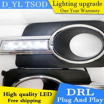 Car styling For Volkswagen Tiguan 11-12 LED DRL For led fog lamps daytime running High brightness guide LED DRL light Automobile