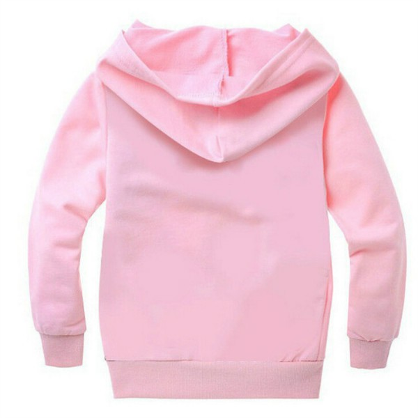 pokemon costume Hoodie toddler boys girls hooded pullover full sleeve tops children clothes pink black Size for 4 5 6 7 8 years (4)