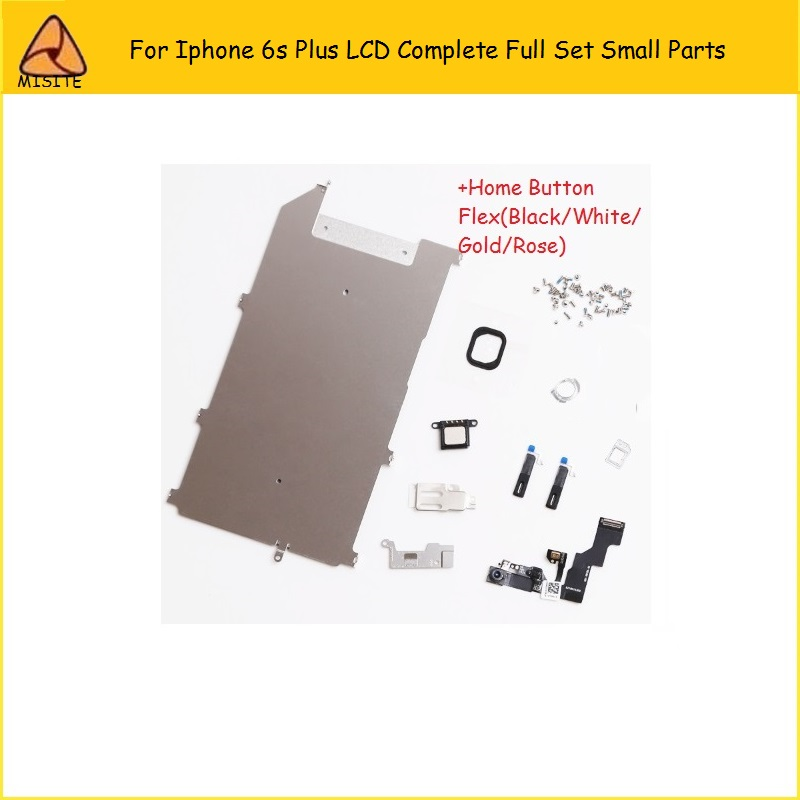 100Pcs/lot LCD Assembly Digitizer Full Set Small Repair Parts Home Button Front Camera Ear Speaker Flex for iphone 6s Plus 5.5'' image