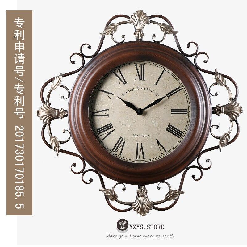 Туда Настенные часы пе процесс настенные часы спальня немой, настенные часы из кованого железа