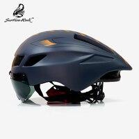 Bicycle Helmet Men Casco Ciclismo Road Mtb Mountain Bike Triathlon Tt Cycling Helmet Lens Goggles Equipe