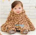 Free shipping Cotton warm /double side/Baby' Cape/ baby clothes/leopard print /chirdrens' capes 5pcs/lot free size