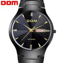 Nuevos relojes hombres marca de lujo del reloj del cuarzo DOM hombres relojes de pulsera de buceo 200 m zafiro moda Casual Sport relogio masculino