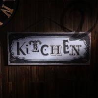 Kitchen European Style Bar Pub Coffee Dining Room Wall Art Poster Shabby Chic Plaques Signs Vintage Mdf Board