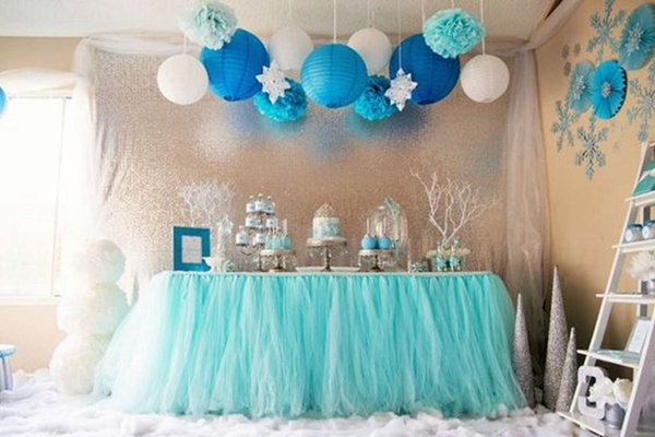 Tiffany Azul Organza Tule Tutu Saia Da Tabela Do Rolo Tecido Carretel Festa De Aniversário