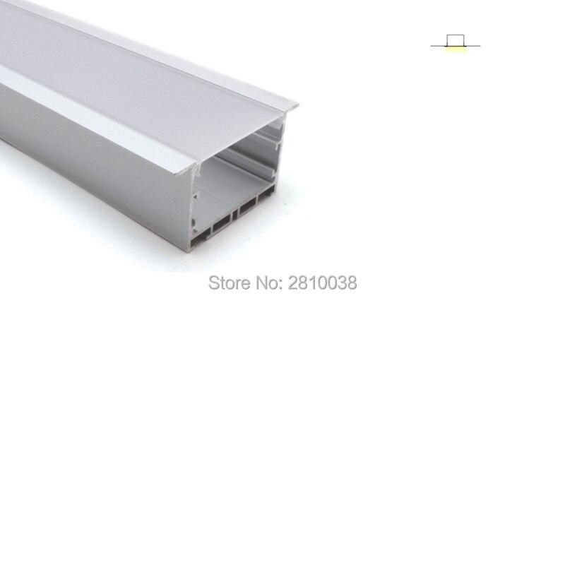 50X2 M ensembles/Lot bride linéaire profil de bande à led aluminium T type conduit canaux en aluminium pour éclairage encastré au plafond