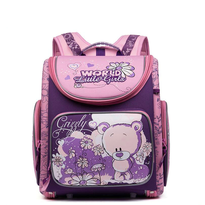 NEW Russia Kids School Bags Children Orthopedic Waterproof School Backpack for Primary School Girls Grade 1-4