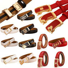 2.4cm Width High Quality Women Genuine Leather Belts Waistband Fashion Automatic