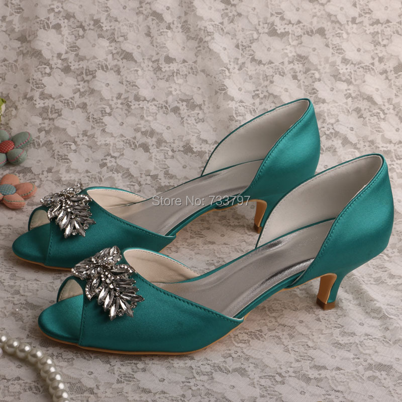 No Heel Wedding Shoes: Wedopus MW589 Custom Handmade Kitten Heel Bridal Shoes