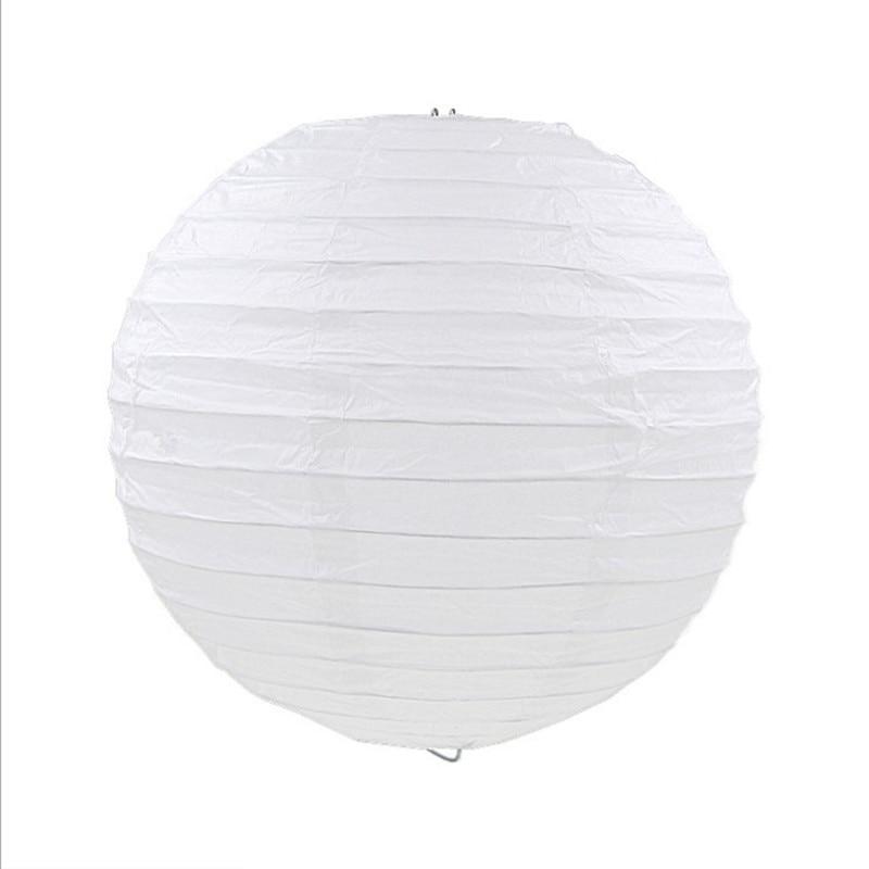 5 pz / lotto lanterne di carta bianca 35cm-40cm rotonde lanterne di - Per vacanze e feste