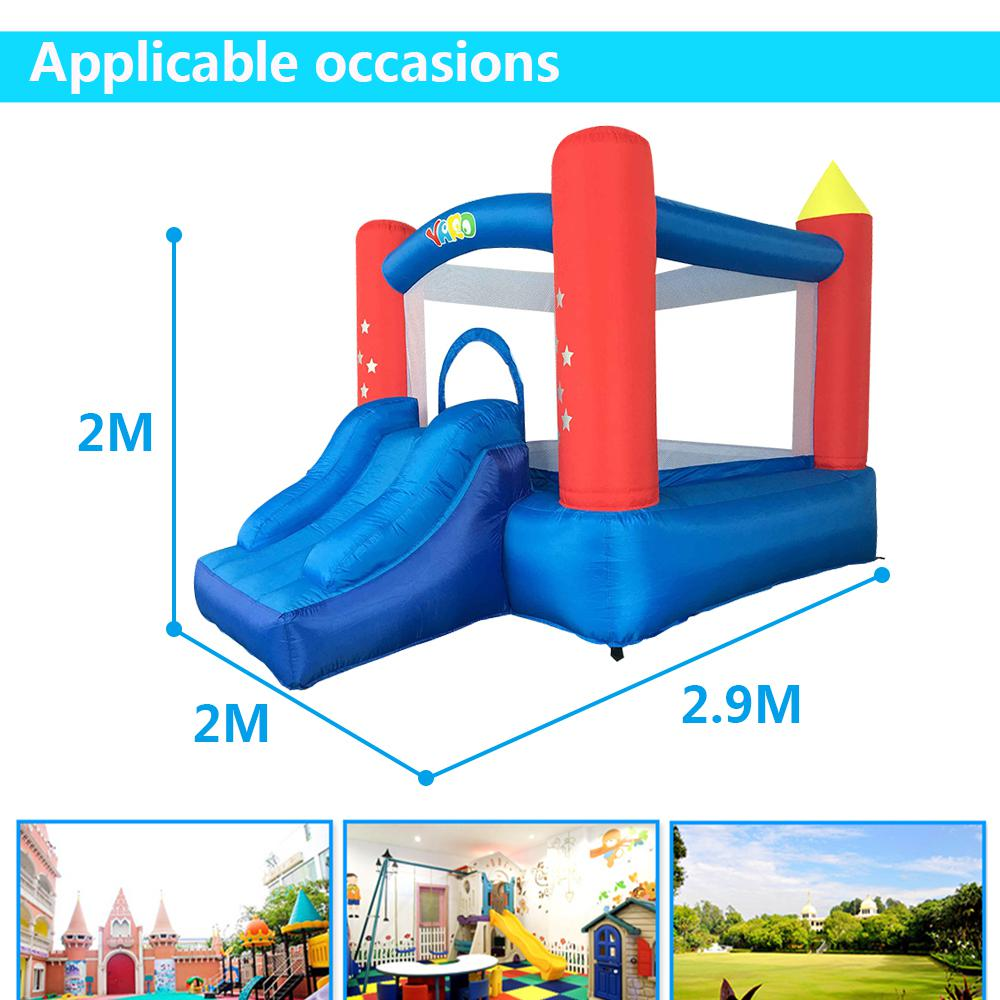 цены YARD Inflatable Bounce House For Kids Jumping House With Slide With Blower Home Use Small Outdoors Inflatable Castle Children в интернет-магазинах