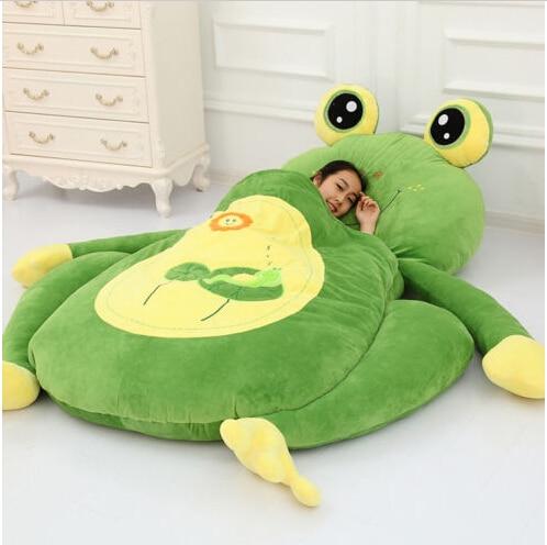 "67"" KIDS CREATIVE FROG MATTRESS TATAMI MAT HIGH QUALITY COTTON STUFFED SOFA BED in Stuffed"