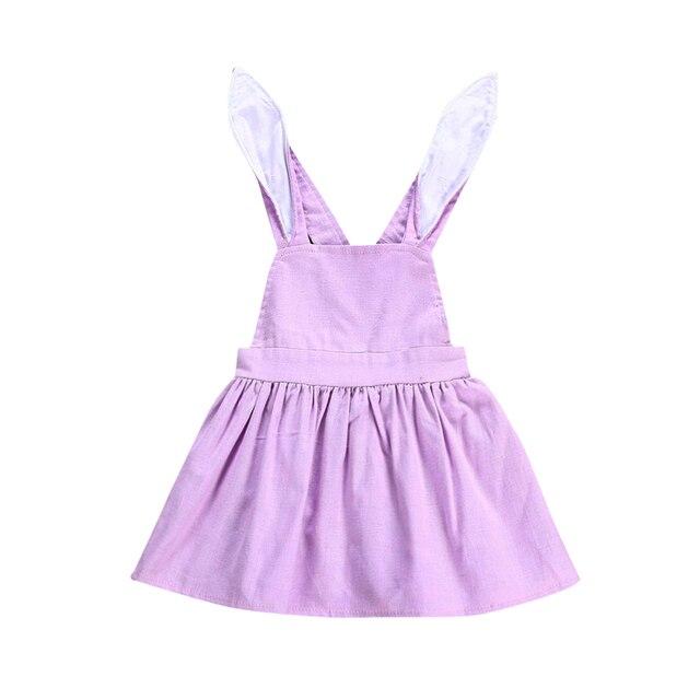 6955efa0a724 2018 Newborn Baby Girl Bunny Ear Dress Kid Girls Easter Rabbits ...