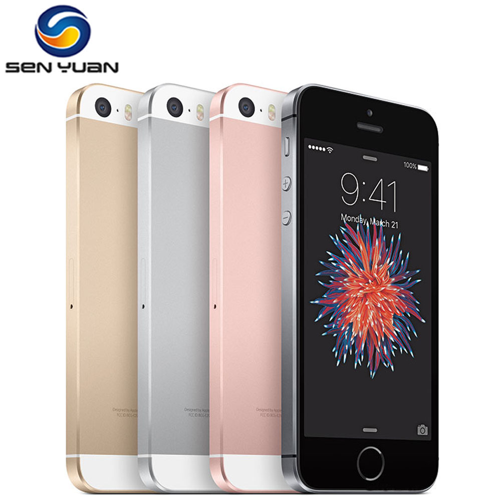 Original Unlocked Apple Used iPhone SE Cell Phone 4G LTE 4.0' 2GB RAM 64GB ROM A9
