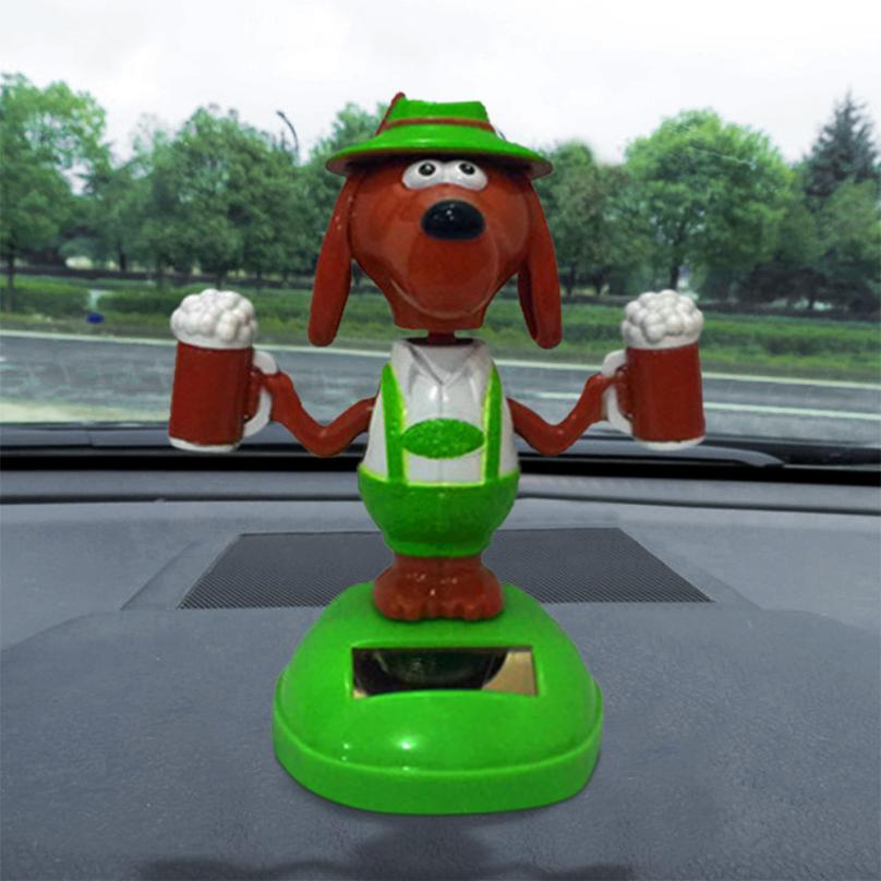 CARPRIE Funny Solar Powered Dancing Animal Swinging Animated Bobble Dancer Toy Car Decor New 18Mar14 solar powered magic autonomous mini car toy