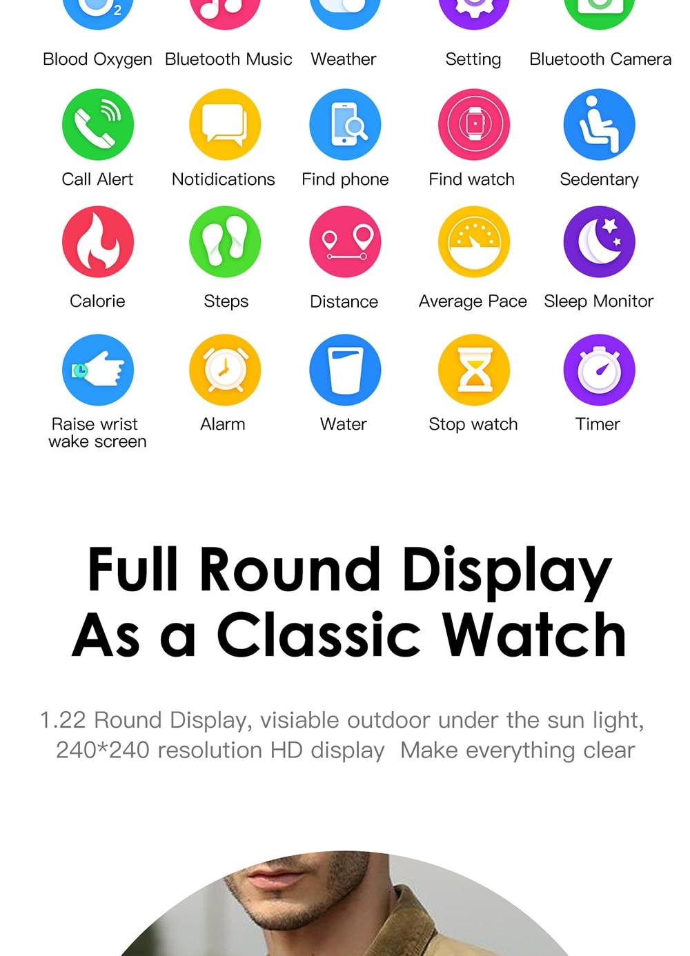 Full Round Display classic watch