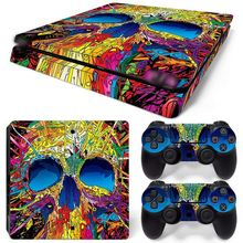 Custom made Waterproof Console Skin for PS4 slim Sticker and 2 controller skins PS4 slim Stickers