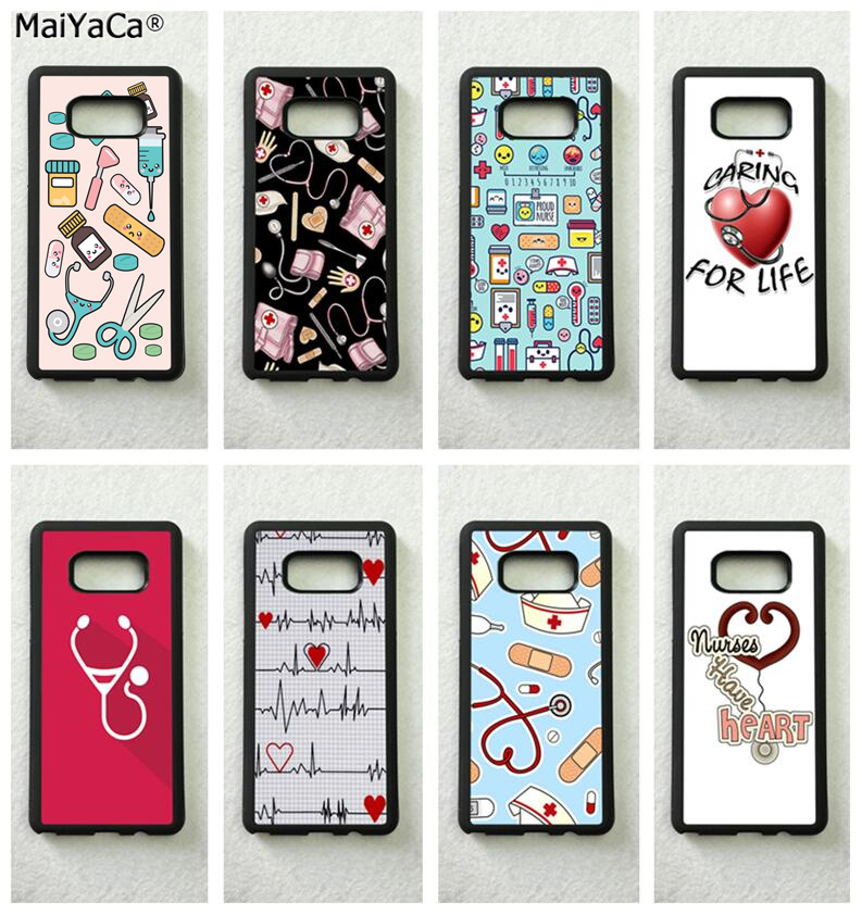 Nurse Doctor Medical Tools Icons Silicone Soft Phone Case For Samsung S5 S6 S6edge Plus S7 Edge S8 S9 Plus Note5 Note8 Note9 A Plastic Case Is Compartmentalized For Safe Storage Phone Bags & Cases