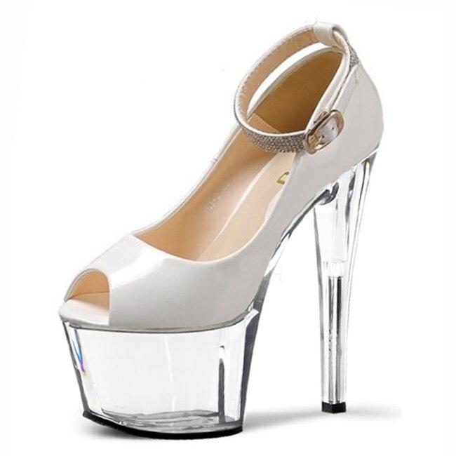 Tacones Cm 2016 claro Bombas Altos Negro Plataforma Feminino Zapatos Señoras Sapato Chaussure 17 Mujeres Mujer Sexy Serpentina TwqCgq