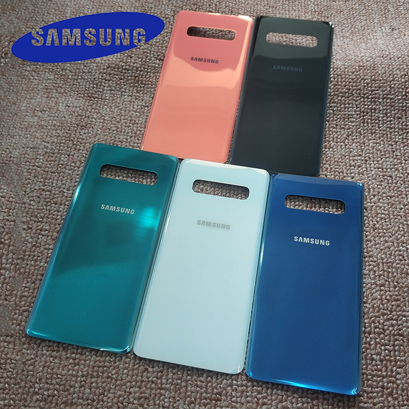 Original Samsung Galaxy S10 Back Battery Cover Glass Housing Cover Back case For Galaxy S 10 Door Rear Case Replacement 6 colors(China)