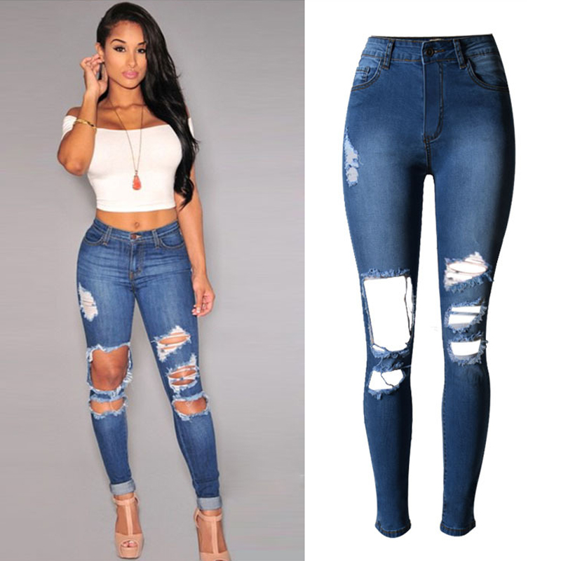 Women's destroyed ripped jeans – Global fashion jeans models