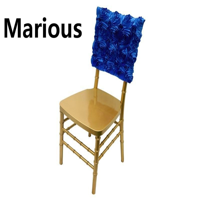 10pcs royal blue chair hood with Hot Sale Rosette Chair Hood for Decoration Banquet Party Bow sashes for chair free shipping