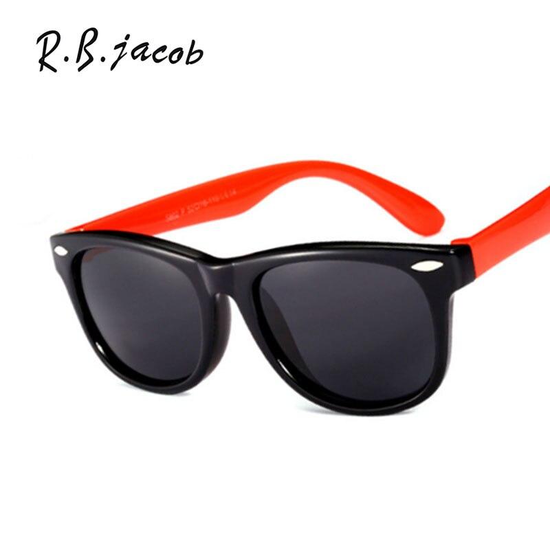 2017 Children Polarized Sunglasses Cute Color Safety Coating Kids Baby Sun Glasses Flexible UV400 Classic Square Goggle Eyewear