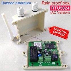 A prova di pioggia versione RTU5024 Cancello di GSM Interruttore del Relè di Controllo di Accesso Remoto Da Trasporto di Chiamata supporto app