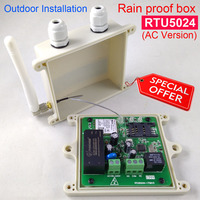 Rain proof version RTU5024 GSM Gate Opener Relay Switch Remote Access Control By Free Call app support