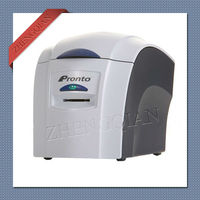 Magicard Pronto enkelzijdige id pvc kaart printer gebruik MA300 YMCKO lint-in Printers van Computer & Kantoor op