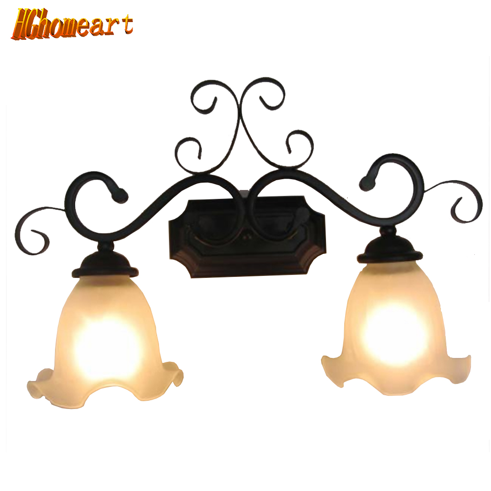 Hghomeart Mirror Front Lamps Bathroom Vanity Lights Minimalist Modern Living Room Bedroom Bedside Lamp Lighting Retro Lamp hghomeart kids led pendant lights basketball academy lights cartoon children s room bedroom lamps lighting