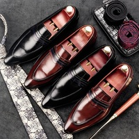 RUIMOSI Luxury Italian Designer Man Casual Shoes Genuine Leather Height Increasing Loafers Pointed Men S Bridal